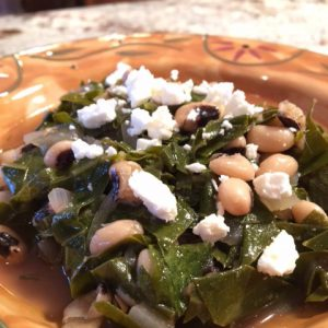 Black Eyed Peas and Collard Greens