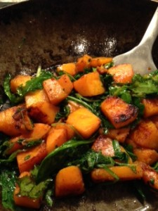 Butternut Squash and Kale Stir Fry