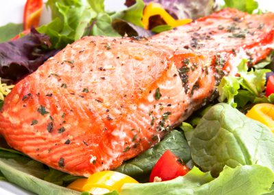 Pesto Salmon Salad