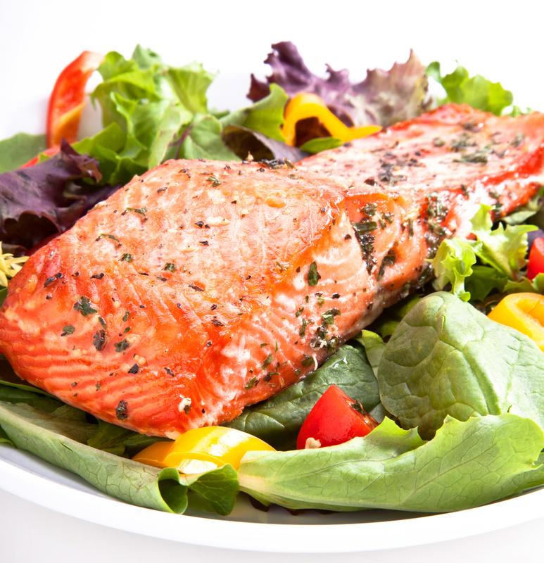 Pesto Salmon Salad