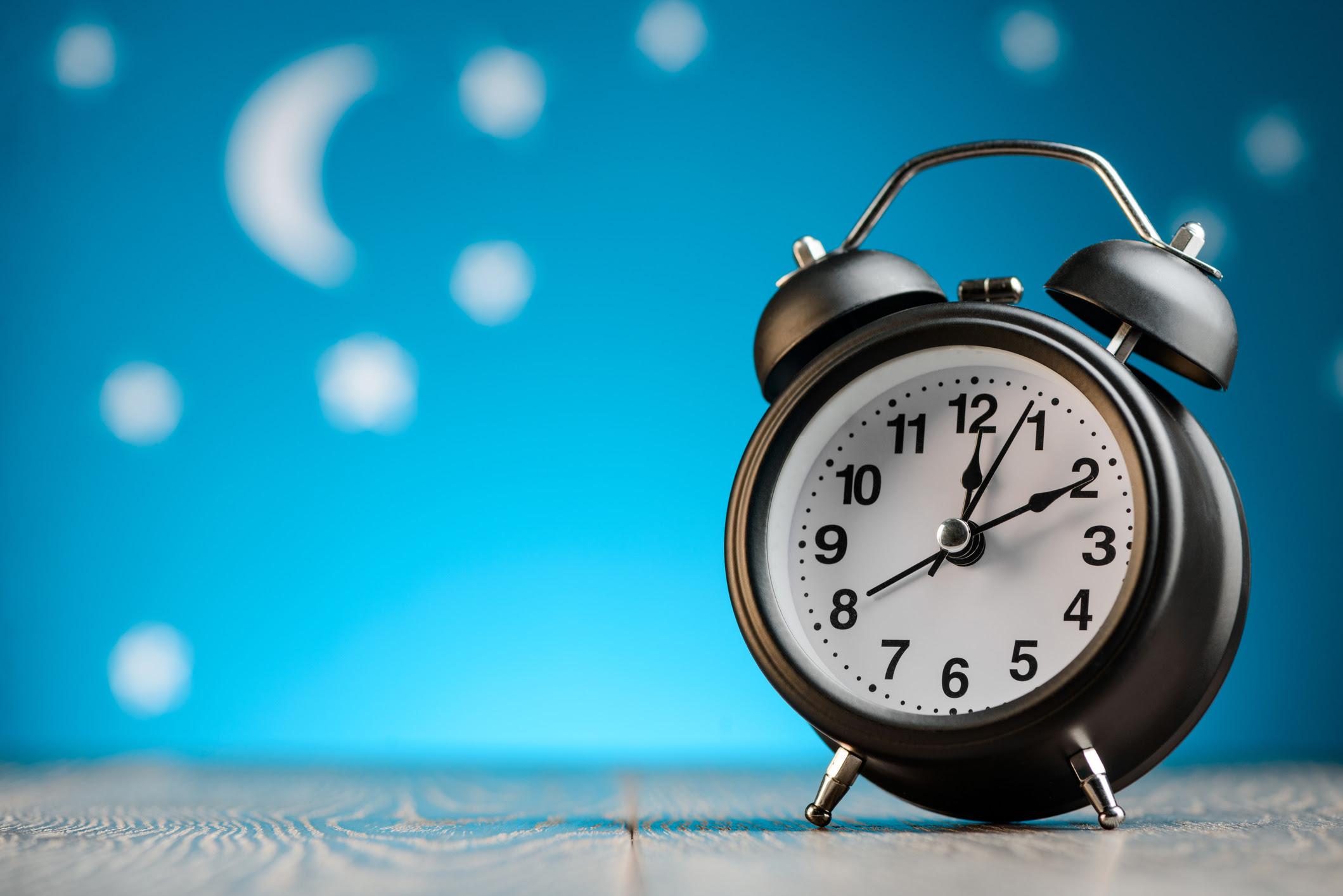 Moon, Stars, Alarm Clock circadian rhythm